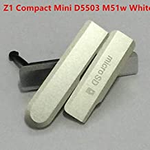 KINGCOM-أغطية الهاتف المحمول وإطارات - خلفية S I M بطاقة مايكرو SD شحن منفذ USB غطاء كتلة لسوني اريكسون Z1 كومباكت z3 z2 z1 z1mini D5503 غطاء الغبار (أبيض)
