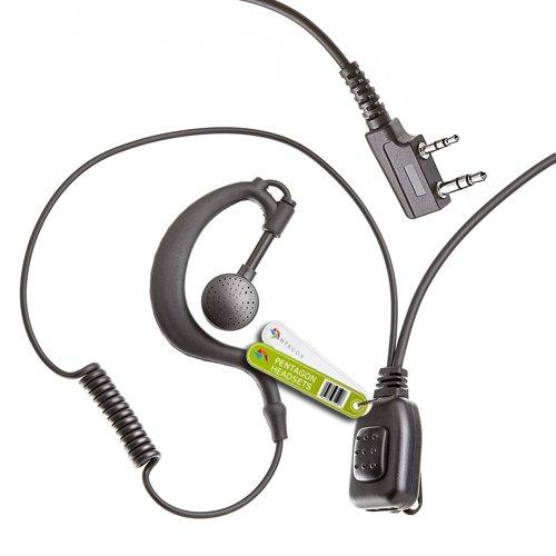 2 x oordopjes in G-vorm voor kenwood-radio.