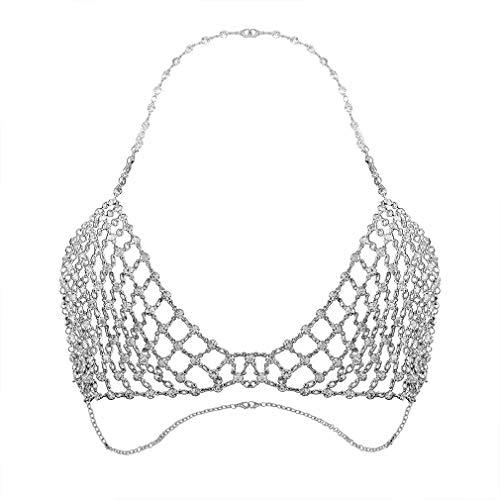 Shiny Strass Body Kette Sexy Bikini Schmuck Badeanzüge Halskette Diamond BH Ketten Fashion Beach Wear Zubehör