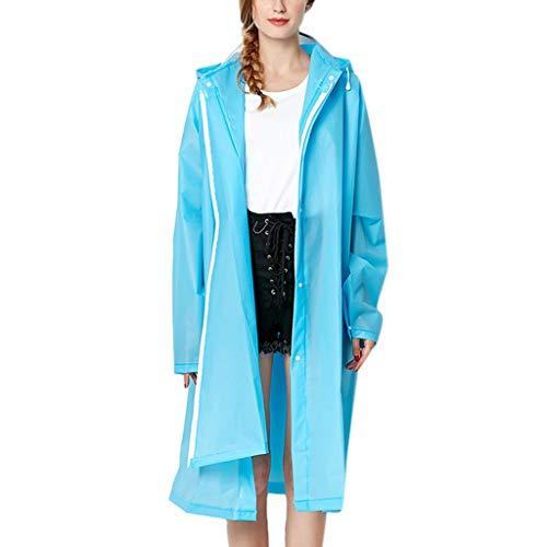 Moda Durevole Eva Impermeabile Rain Cappotto di Pioggia Poncho Unisex con Cappuccio e Maniche, Riutilizzabile, Portatile, Pieghevoli Poncho Impermeabile, Poncho da Pioggia Adulto Raincoat