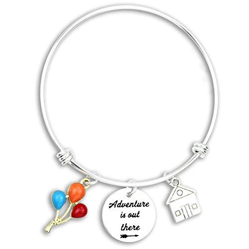 Kivosliviz Disney Up Merchandise Bracelet Travel Vacation Gifts for Women Adventure Gifts Wanders lusts Bracelet