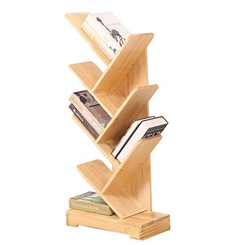 Cdbl Effen Houten Planken Creatieve Vier-laags Boom-vormige Children's Boekenplank Vloer Boekenplank Kleuterschool Fotoboeken (Maat: 48 × 24 × 109cm) Plank