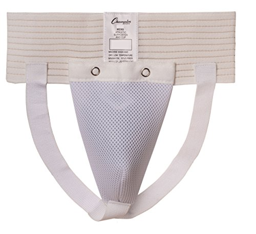 Champion Sports Men's Cup and Athletic Supporter (White, Large)