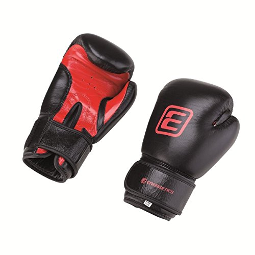 Energetics Boxhandschuhe French Boxing Glove Box Handschuhe Schwarz/Rot, Größe:8