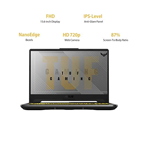ASUS TUF Gaming F15 (2020), 15.6-inch (39.62 cms) FHD 60Hz, Intel Core i5-10300H 10th Gen, NVIDIA GeForce GTX1650 4GB Graphics, Gaming Laptop(8GB/512GB SSDWindows 10/Gray/2.3 Kg), FX566LH-BQ275T