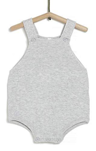 TEX - Peto De Tirantes para Recién Nacido, Gris Plateado Claro, 0 a 1 Mes (54 cm)
