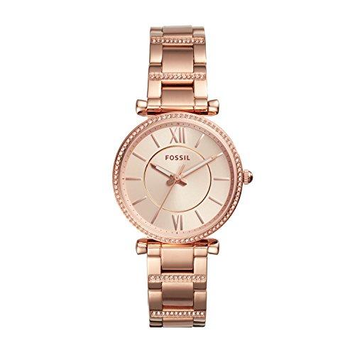 Fossil Damen Analog Quarz Uhr mit Edelstahl Armband ES4301
