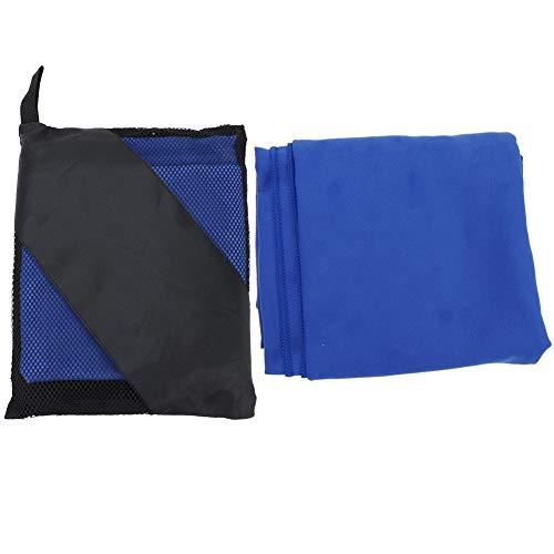 Shoplice Toalla Toalla de Playa Fibra Ultrafina Viajes al Aire Libre Camping Microfibra Secado rápido Ducha Deportiva Toalla de Playa(Azul)