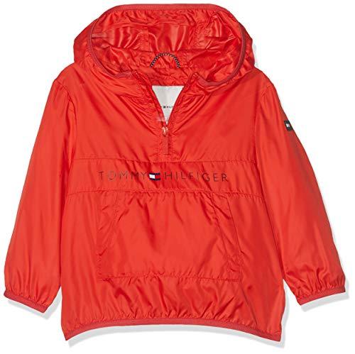 Tommy Hilfiger Unisex Baby POP-Over Jacket Jacke, Rot (Flame Scarlet 633), (Herstellergröße: 92)