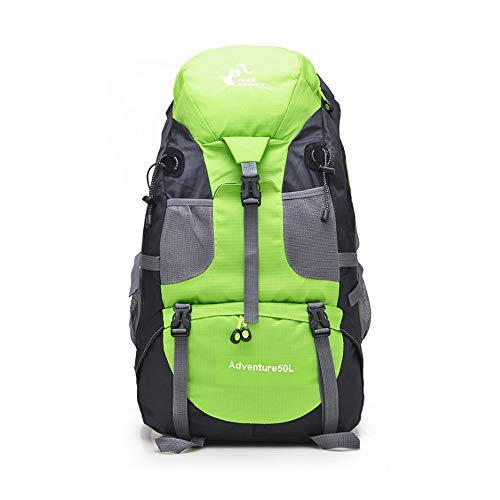 [FUPUTWO] バックパック 大容量 登山リュック リュックサック アウトドア 軽量 防災 トレッキング 多機能 防水 50L (グリーン)