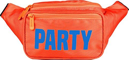 SoJourner Orange Party Fanny Pack - Neon Packs for men, women | Cute Waist Bag Fashion Belt Bags rave festival