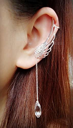 Women Creative Retro Gothic Punk Etched Dragon Shape Ear Wrap Ear Cuff Earring Non Pierced Ear Cuff Wrap Clip Stud Ear Crawler Earring Jewelry Gift for Women Girls(2PC )
