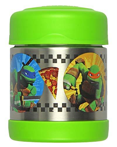 Thermos Vacuum Insulated Funtainer Food Jar, Teenage Mutant Ninja Turtles 10 Ounce, Green