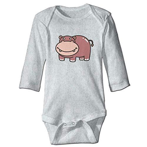 Unisex Toddler Bodysuits Hippo Boys Babysuit Long Sleeve Jumpsuit Sunsuit Outfit Ash