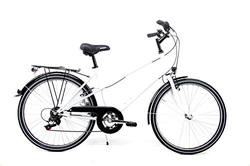 26 Zoll Damen Fahrrad City Bike 6 Gang Shimano STVZO Weiss RH46