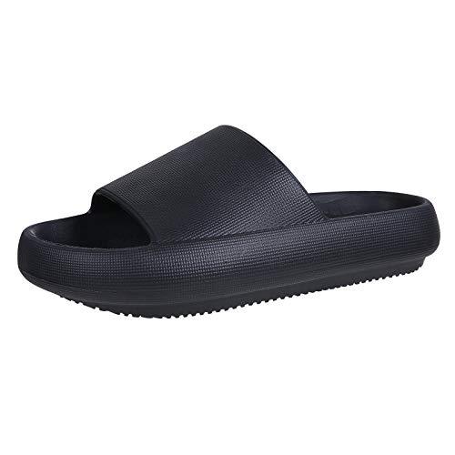 Pillow Slides Slippers for Women Men Non Slip Outdoor Shower Slides Shoes Bath Slippers