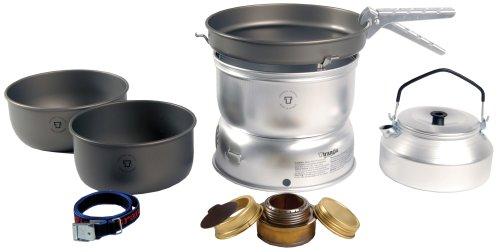 Trangia 25 Harteloxiertes Kochset mit Wasserkessel und Spiritus-Brenner