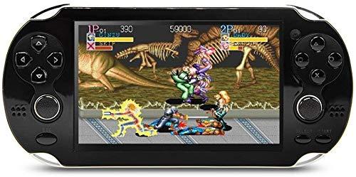 Juegos De Videojuegos De La Consola De 8 GB De 4,3 Pulgadas De Doble Palanca De Mano Consola De Juegos De Construcción En El Año 1200 Arcade/Neogeo/CPS/FC/SFC/GB/GBC,Negro