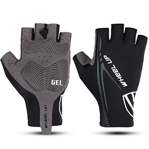 CESHMD Halfvinger fietshandschoenen voor dames en heren, voor racefiets, mountainbike, krachttraining, fitness, crossfit, bergbeklimmen, sport