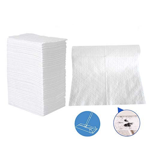 "UKEENOR Dry Mop Refills Sweeper 160 Count Disposable Dusting Cloths Dry Sweeping Refills Dry Duster Cloths Mop Pads Floor Cloth Refills Electrostatic Cloths 7.9""x11.6"""