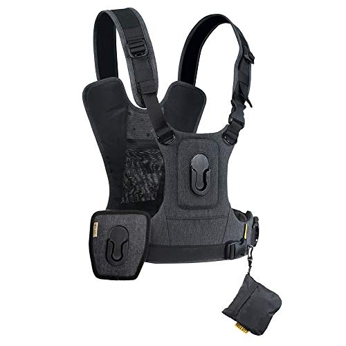Cotton Carrier CCS G3 Camera Harness System for Two Cameras - Grey