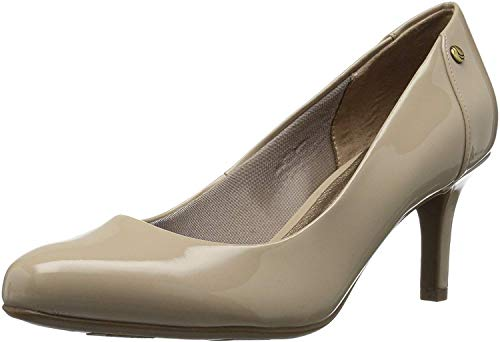 LifeStride Women's Lively Dress Pump, Tender Taupe, 8.5 W US