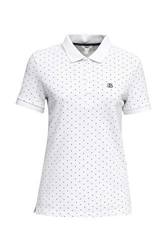 Esprit Damen 040EE1K353 T-Shirt, 100/WHITE, M