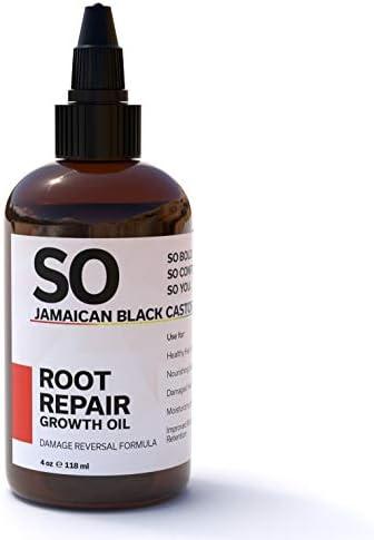 SO Jamaican Black Castor Oil Root Repair Growth Oil 100 Natural Moringa Avocado Aloe Vera Oils product image