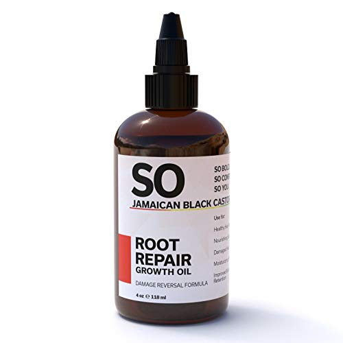 SO Jamaican Black Castor Oil | Root Repair Growth Oil | 100% Natural Moringa, Avocado & Aloe Vera Oils to Revive Your Scalp and Roots for Stronger Shinier Hair | 4 Oz. / 118 mL