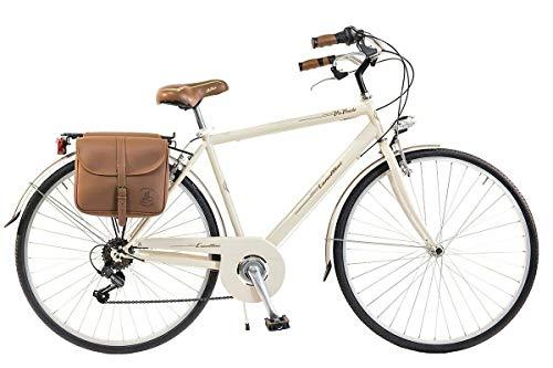 Via Veneto by Canellini Bicicletta Bici Citybike CTB Uomo Vintage Retro Via Veneto Acciaio Panna Taglia 54