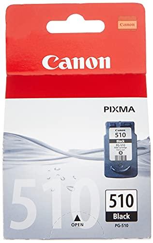 Canon PG-510 Cartucho de tinta original Negro para Impresora de Inyeccion de tinta Pixma iP2700-2702-MP230-240-250-252-260-270-280-480-490-492-495-499-MX320-330-340-350-360-410-420
