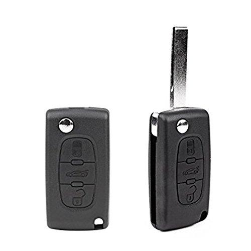 Ndier–Carcasa de–Llave, Funda para Llaves Peugeot Funda Protectora Maderas para Peugeot 207sw, 307sw, 407/308/607