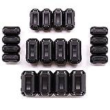 20 anillos de ferrita, 3,5 mm, 5 mm, 7 mm, 9 mm, 13 mm, RFI EMI Noise Suppressor