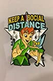 Peter Pan Tinkerbell Enamel Pin Jewelry Accessory for Women Men, Keep A Social Distance Fantasy Pin 2020 Disney Inspired Pin