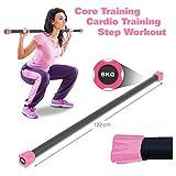 Sport-Tec Gewichtsstange 8 kg, pink, Hantelstange, Langhantel, Gewichtsstab