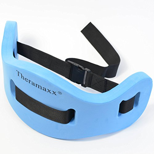 Aqua Jogging Gürtel, Schwimmgürtel von Theramaxx, Universalgröße, blau