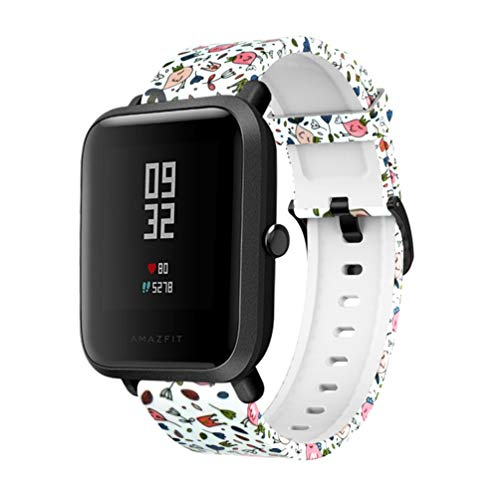 ibasenice Correa para amazfit bip Youth - Correa de Reloj de Pulsera smartwatch Duradera Correa de Repuesto de Reloj de Silicona para Reloj Inteligente amazfit bip Youth