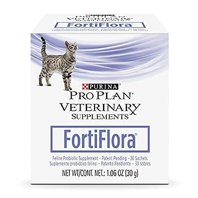 Purina Pro Plan Veterinary Diets Probiotics Cat Supplement, Fortiflora Feline Nutritional Supplement - 30 ct. Box
