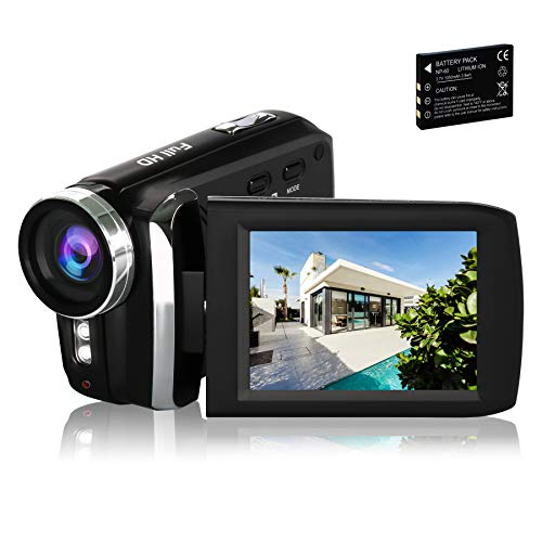HG5250 Digital Video Camcorder FHD 1080P 12MP DV 270 Grad drehbare Bildschirm Videokamera für Kinder/Anfänger/ältere Menschen
