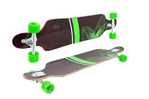 HUDORA Longboard Topanga, 100% FSC - ABEC 7 - Skateboard - 12820