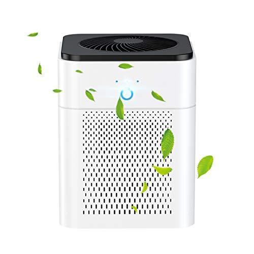 SOCICO Purificatore d'Aria Casa confiltro HEPAEffetti Filtrazione 99,99%, 3 velocità di Ventilazione e Indicatore della,Efficace per Allergie, Formaldeide, Fumi,per Appartamento, Aala Fumatori