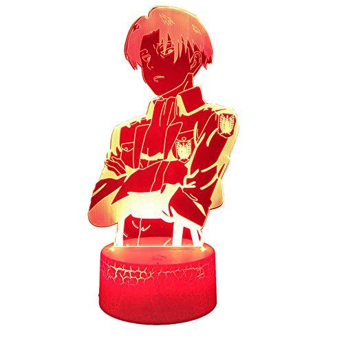 Attack on Titan 3D Illusion Lampe LED Nachtlicht Spiel Beleuchtung 3D Lampe 16 Farbwechsel LED Stimmungslampe Schreibtisch Tischleuchte Lampe Kinder Geschenk