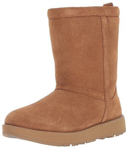 UGG Women's Classic Short Waterproof Snow Boot, Chestnut, 8.5 M US