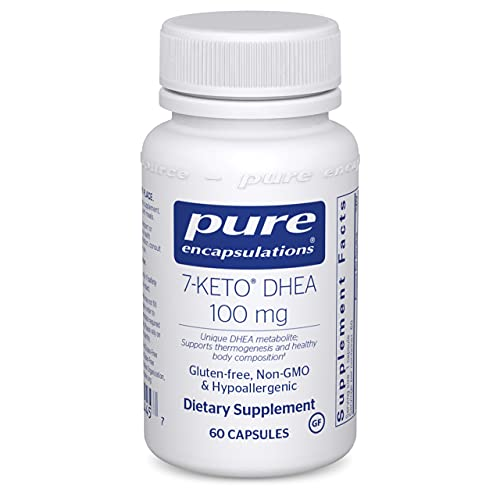 Pure Encapsulations 7-Keto DHEA 100 mg   Unique DHEA Metabolite Supplement to Support Thermogenesis and Healthy Body Composition*   60 Capsules