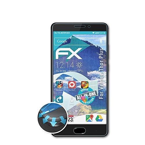 atFolix Schutzfolie kompatibel mit Vernee Thor Plus Folie, ultraklare & Flexible FX Bildschirmschutzfolie (3X)