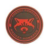 Cobra Tactical Solutions Rocket Powered Guardians of The Galaxy Rot PVC Patch mit Klettverschluss für Airsoft Paintball für Taktische Kleidung Rucksack