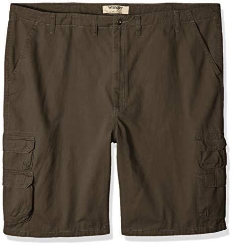 Wrangler Authentics Men's Premium Twill Cargo Short, Anthracite Twill, 42