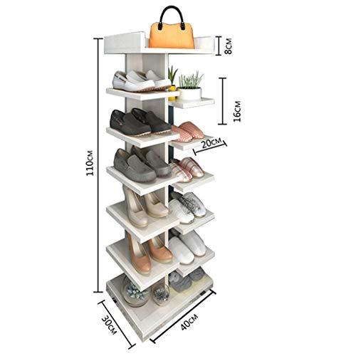 Étagère à chaussures debout en bois massif, étagère de rangement pour chaussures, étagère de rangement en tissu non-tissé (taille : Seven-layer)