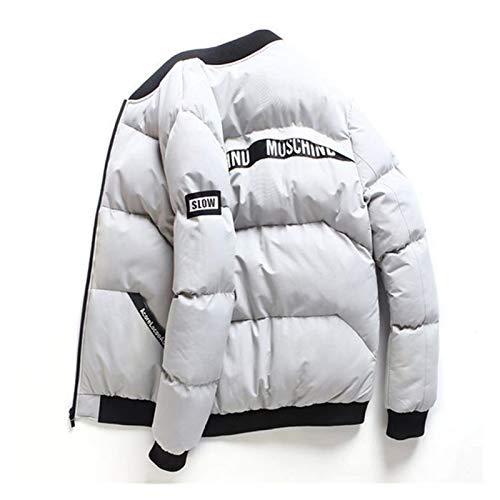 GZA Chaqueta de Invierno para Hombre Hombres Invierno Abrigos Y Chaquetas Calientes Parkas Slim Fit Down Jackets Hombres Fuerza Aérea Chaquetas Hombres Invierno Short Jacke