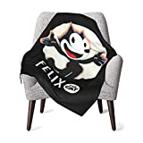 Soft&Warm Baby Felix The Cat Blankets Lightweight Flannel Throw Plush Blankets Twin Size for Boys and Girls 30''×40''